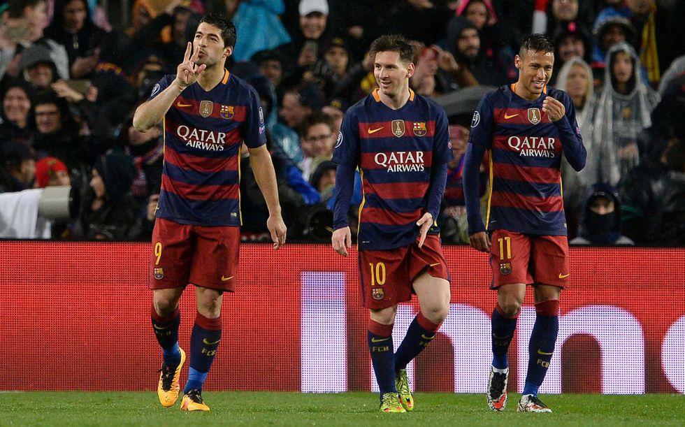 Trio MSN fez os gols da partida.