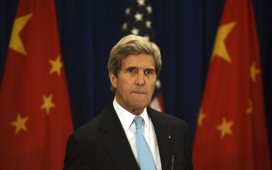 O secretário de Estado dos EUA, John Kerry, em Pequim.