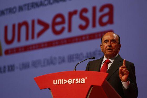 Emilio Botín, nesta segunda-feira no Rio de Janeiro.
