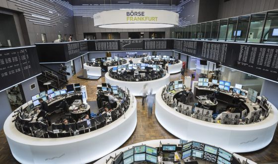 Pregão na Bolsa de Frankfurt.