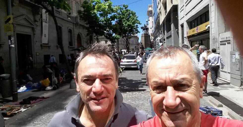Roberto Bardella, 52 anos, (e) e Rino Polatto (d) de 59