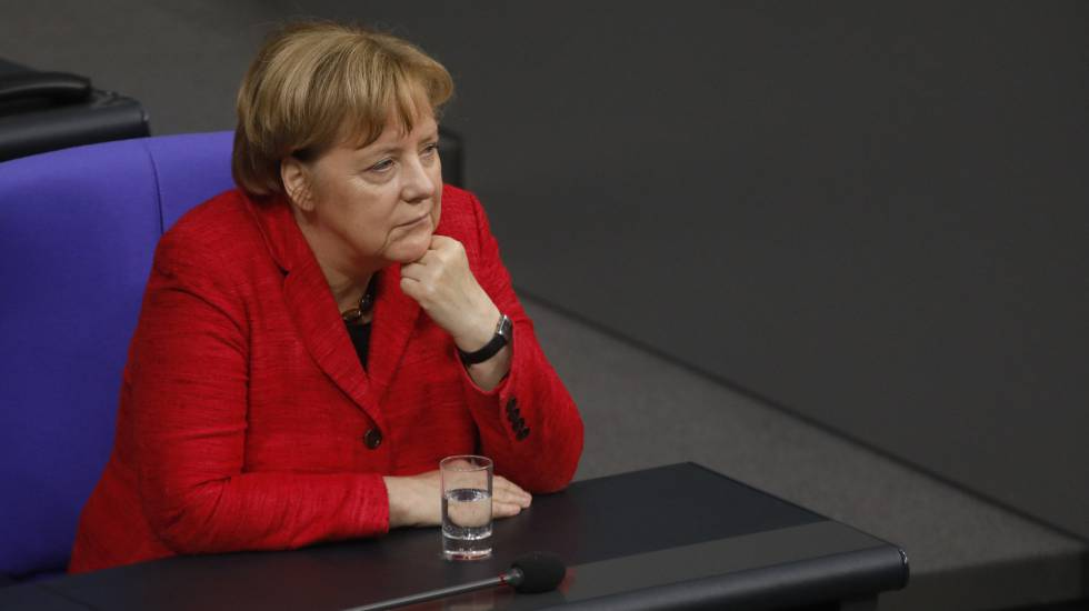 Angela Merkel no Bundestag