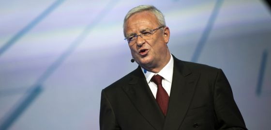 O CEO da VW, Martin Winterkorn, durante a feira do automóvel de Frankfurt, em 14 de setembro.