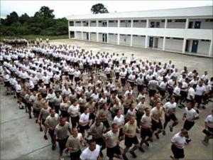 Treinamento físico no CFAP do Rio de Janeiro.