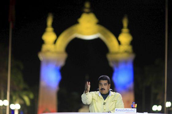 O presidente da Venezuela, durante seu programa televisivo.