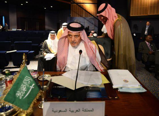 Ministro saudita de Relações Exteriores no Egito.
