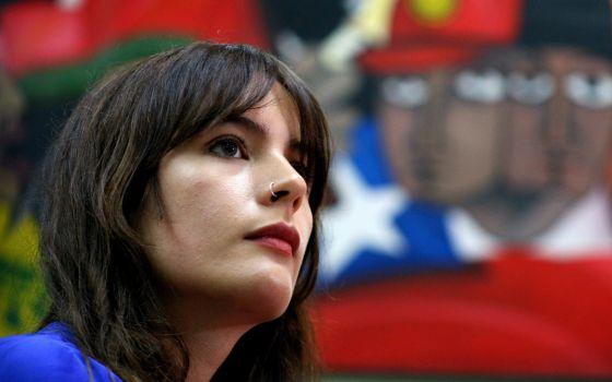 A deputada eleita do Partido Comunista do Chile, Camila Vallejo.
