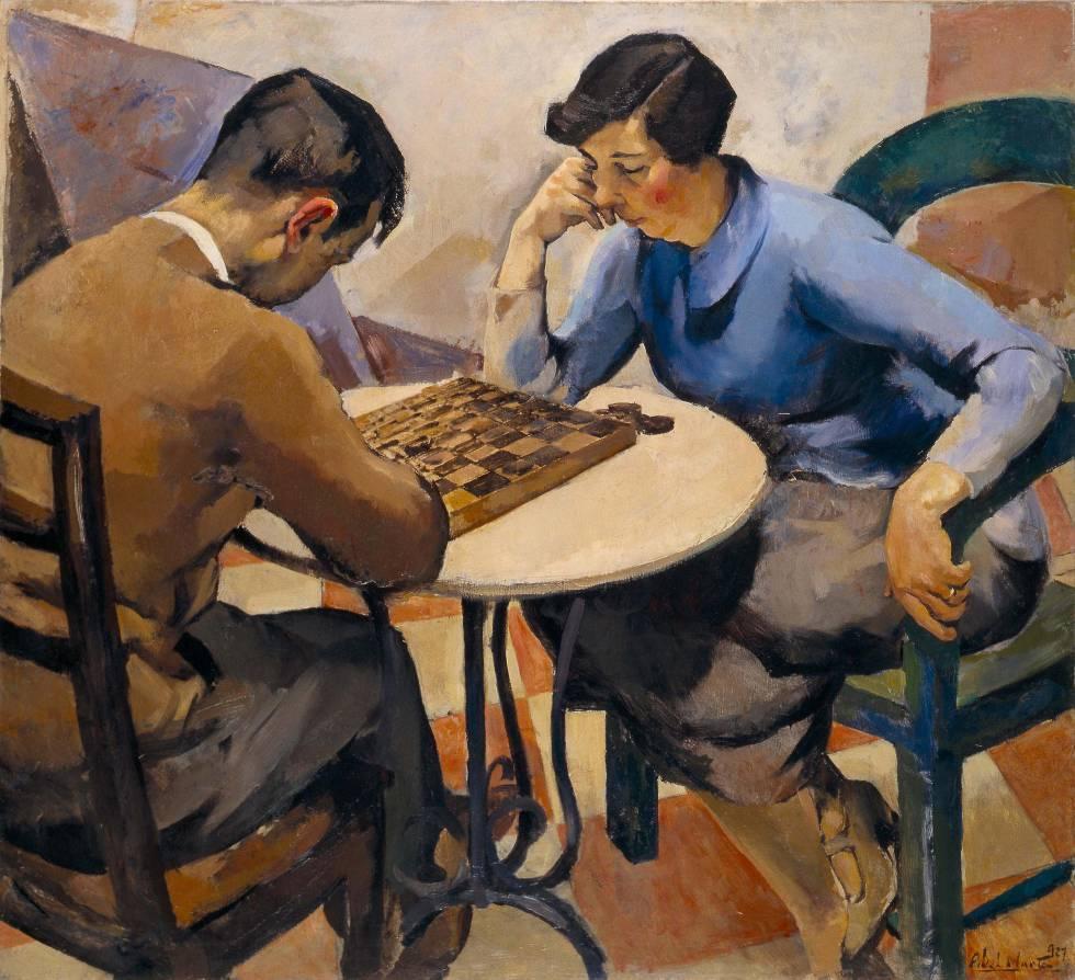 'Jogo de Damas' (1927), óleo de Abel Manta.