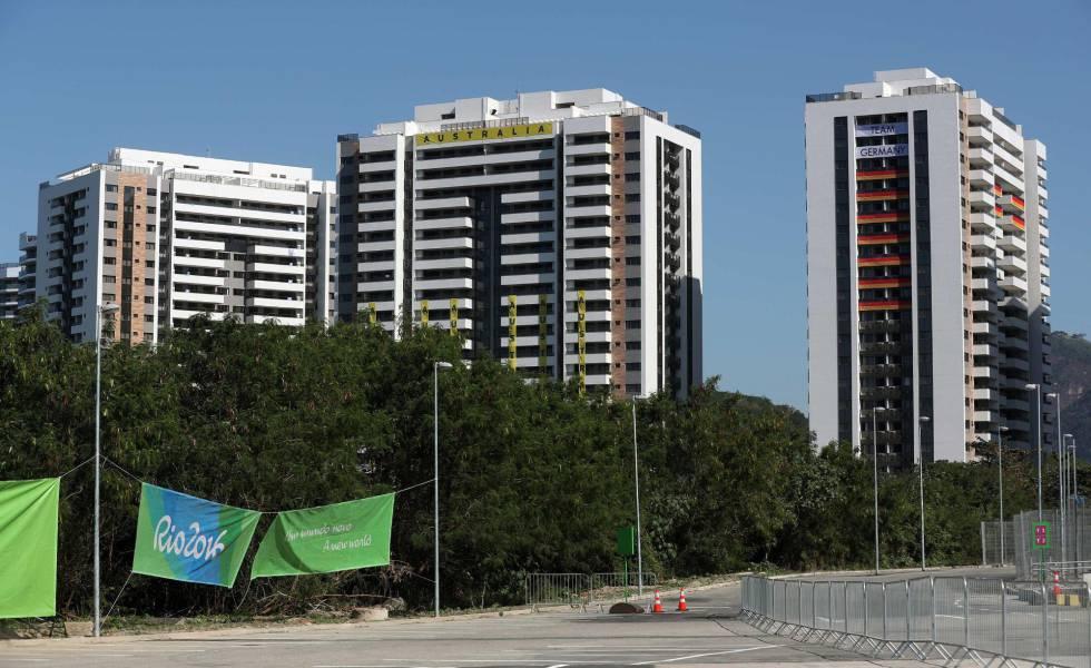 Edifício da Vila Olímpica destinado ao alojamento