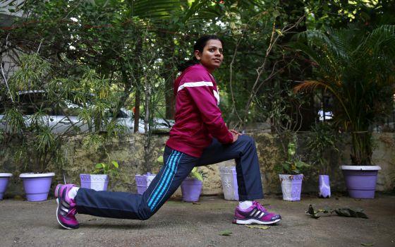 A atleta Dutee Chand, em outubro de 2014.