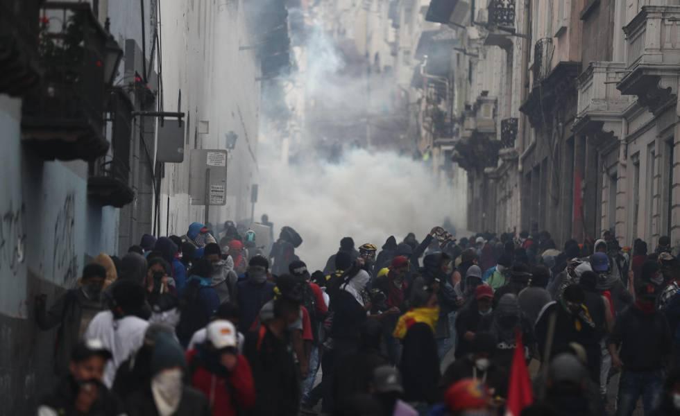 As manifestações no Equador depois do acordo com o FMI.