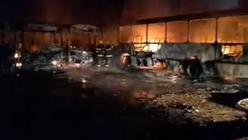 Um dos ataques aconteceu conta ônibus estacionados em garagem em Minas.