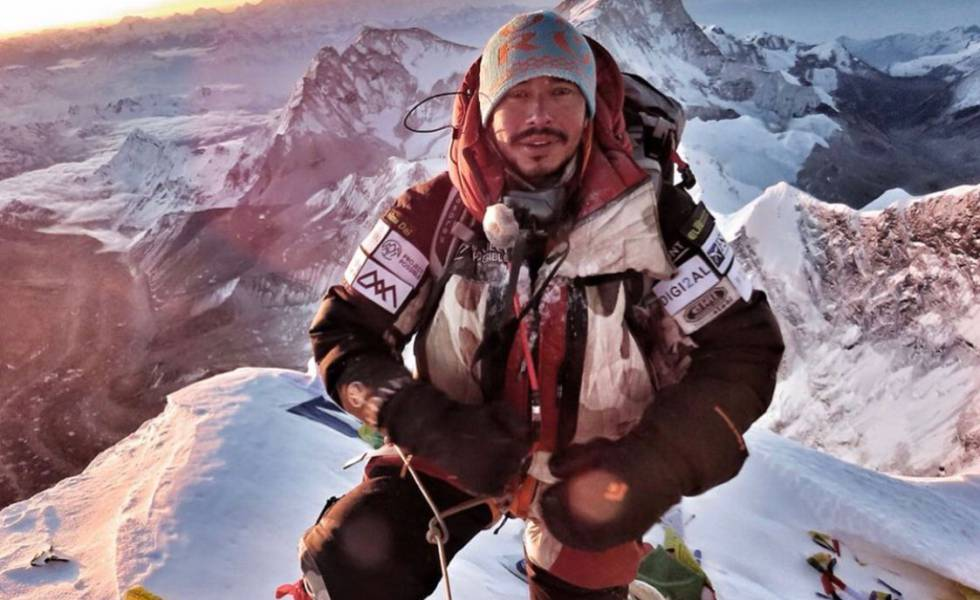 Nirmal Purja durante sua ascensão ao Everest, em maio de 2019.