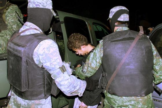 Detenção do 'menino assassino' em 2010.