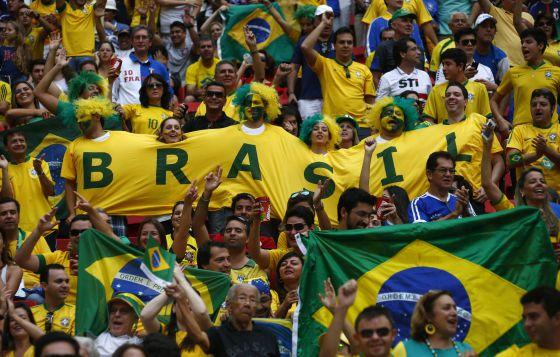 Torcedores brasileiros na Copa das Confederações.