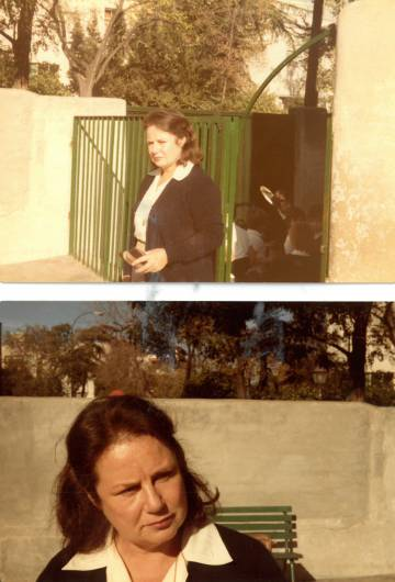 Carmen Sánchez García no colégio Nervión, nos anos oitenta.