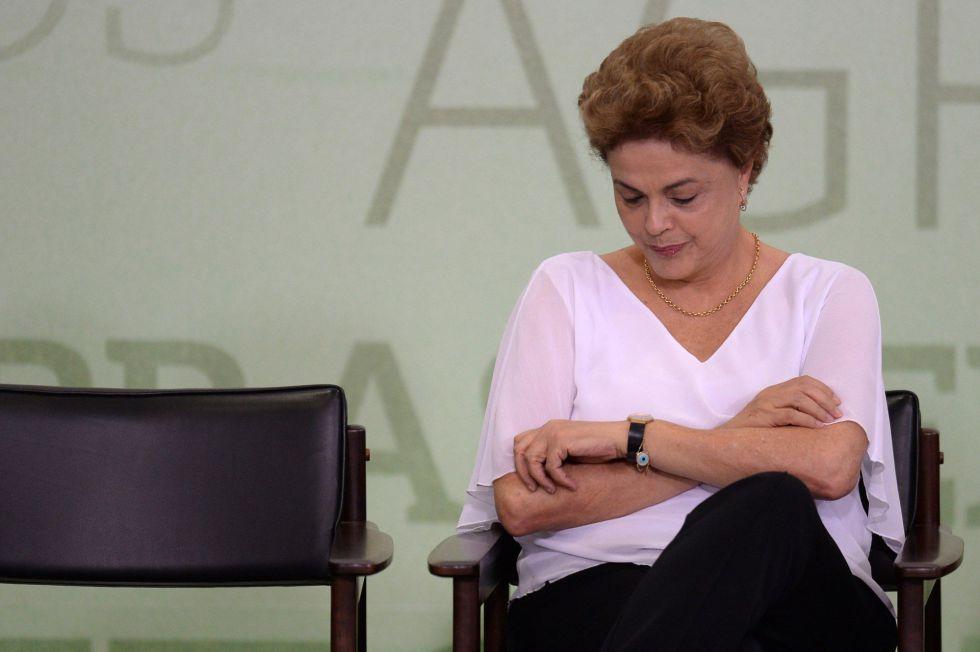 Dilma Rousseff, dia 1 de abril.