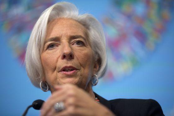 Christine Lagarde, em coletiva de imprensa em Washington.