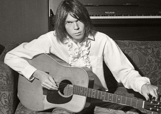 Neil Young, em foto feita no final dos anos 70.