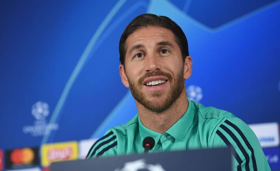 Sergio Ramos em entrevista coletiva antes da partida pela Champions.