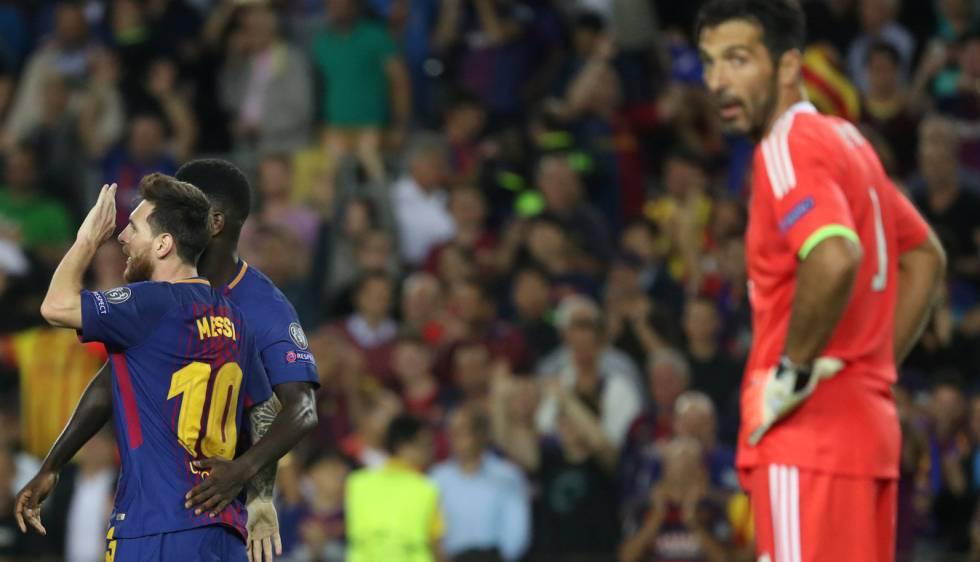 Messi marcou seu primeiro gol em Gianluigi Buffon.