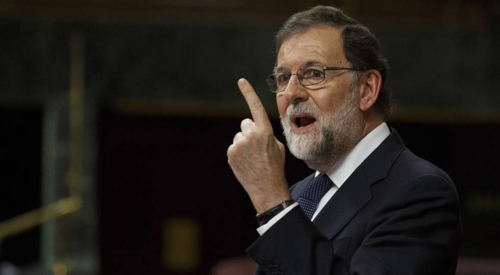 Mariano Rajoy, em 11 de outubro no Congresso dos Deputados.