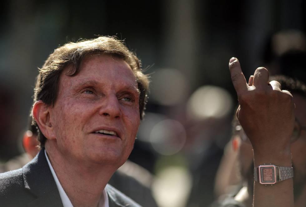 O prefeito do Rio, o ex-bispo da Igreja Universal, Marcelo Crivella.