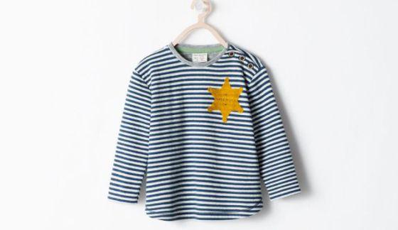 Imagen da camiseta da Zara, publicada pelo diário Haaretz.