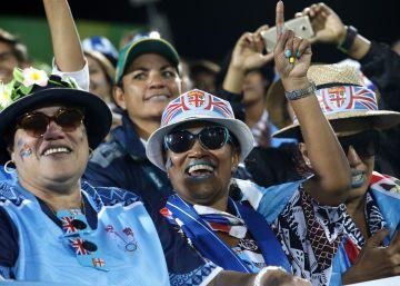 Seleção fijiana de rúgbi venceu de modo convincente a britânica. As autoridades já declararam um dia de feriado nacional