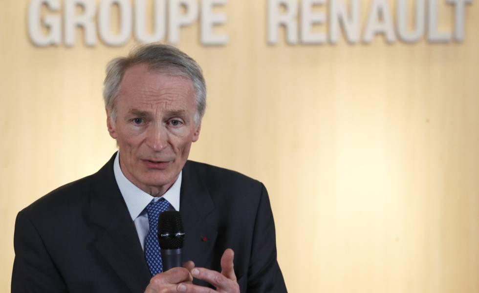 Jean-Dominique Senard, presidente da Renault, em 24 de janeiro.