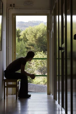 A young drug addict in a rehabilitation center in Catalonia.