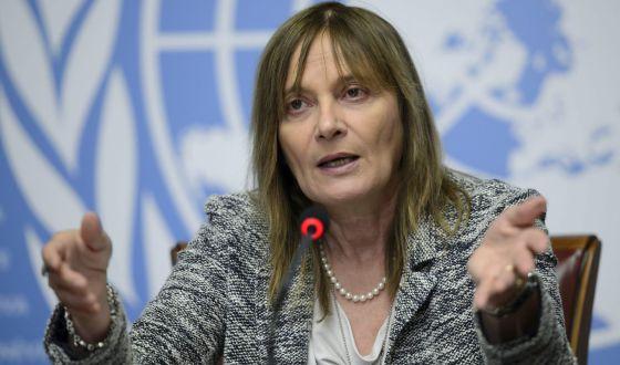 A subdiretora da Organização Mundial da Salud (OMS), Marie Paule Kieny, informa sobre a pesquisa de vacinas contra o ebola.