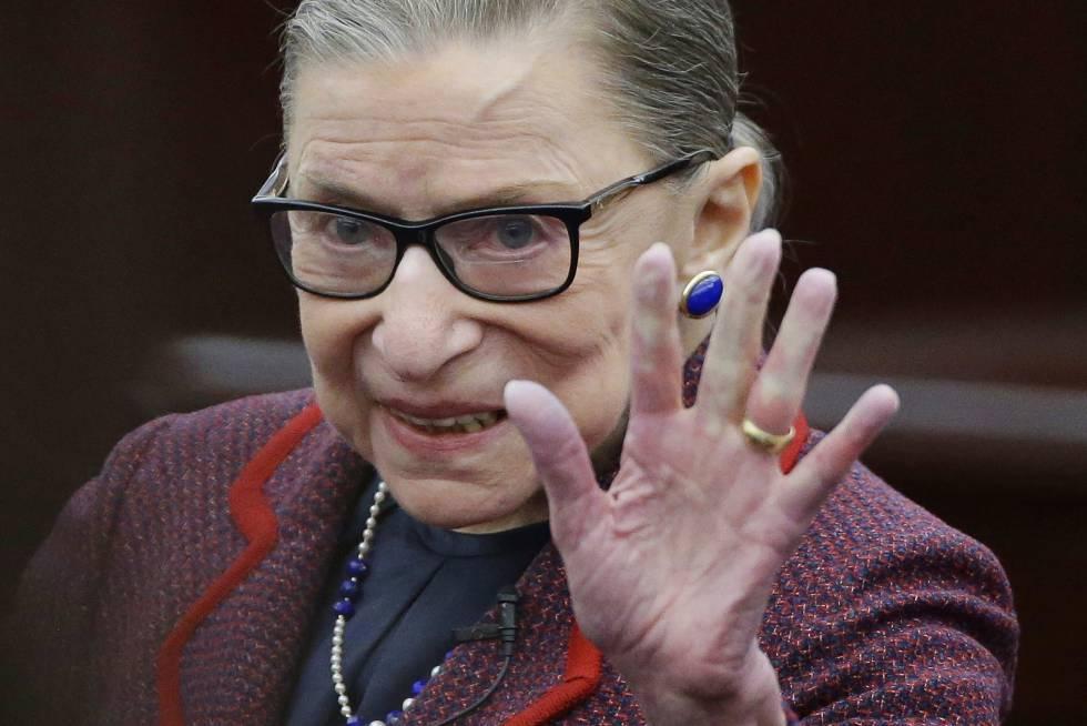 A juíza do Supremo Tribunal dos EUA, Ruth Bader Ginsburg.