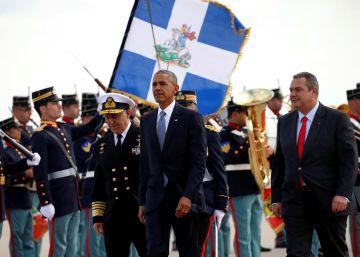 Presidente dos EUA chega a Atenas para a primeira escala de seu último périplo internacional