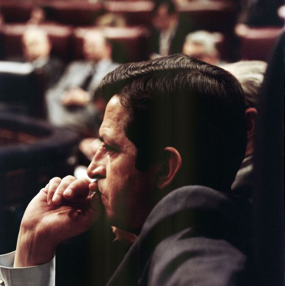 Adolfo Suárez no Congresso em uma foto sem data.