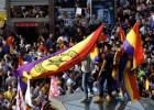 O protesto reúne 20.000 pessoas na Puerta del Sol de Madri, segundo fontes policiais, e foi organizado pelas redes sociais