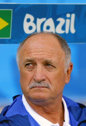 Felipão, na semifinal Brasil e Alemanha.