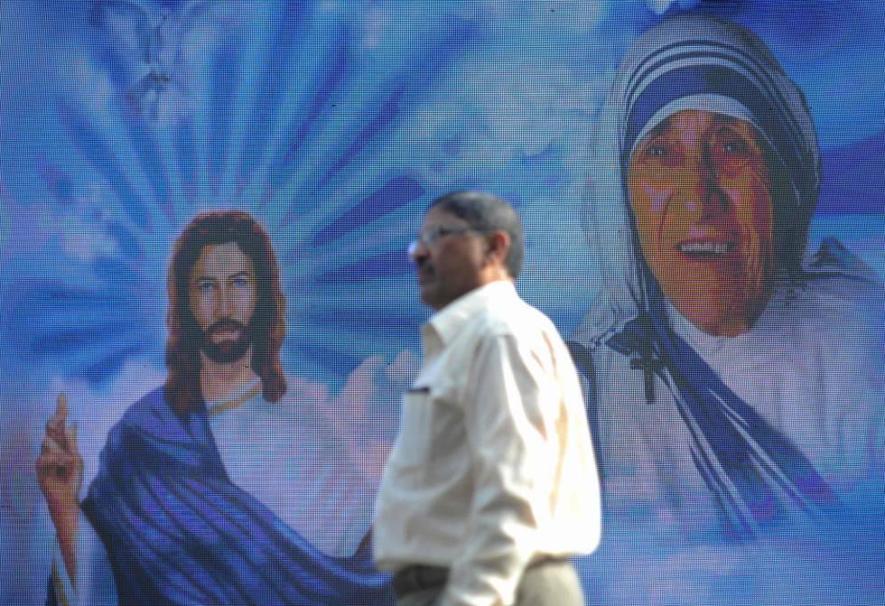 Imagem de Teresa de Calcutá no Vaticano.