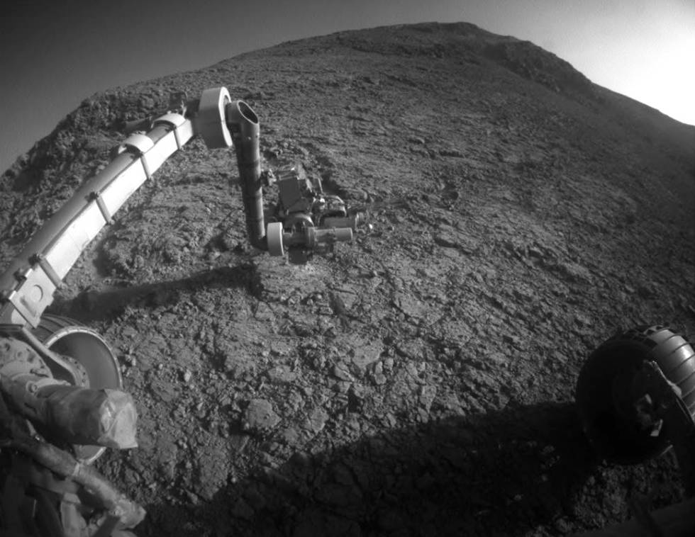 Imagem feita pelo robô 'Opportunity' em 2016.