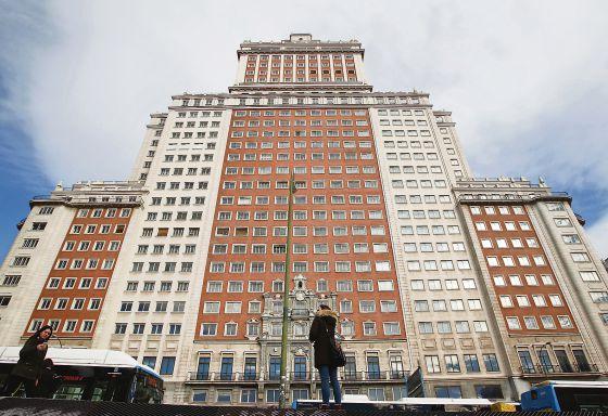 O edifício España, no centro de Madri.