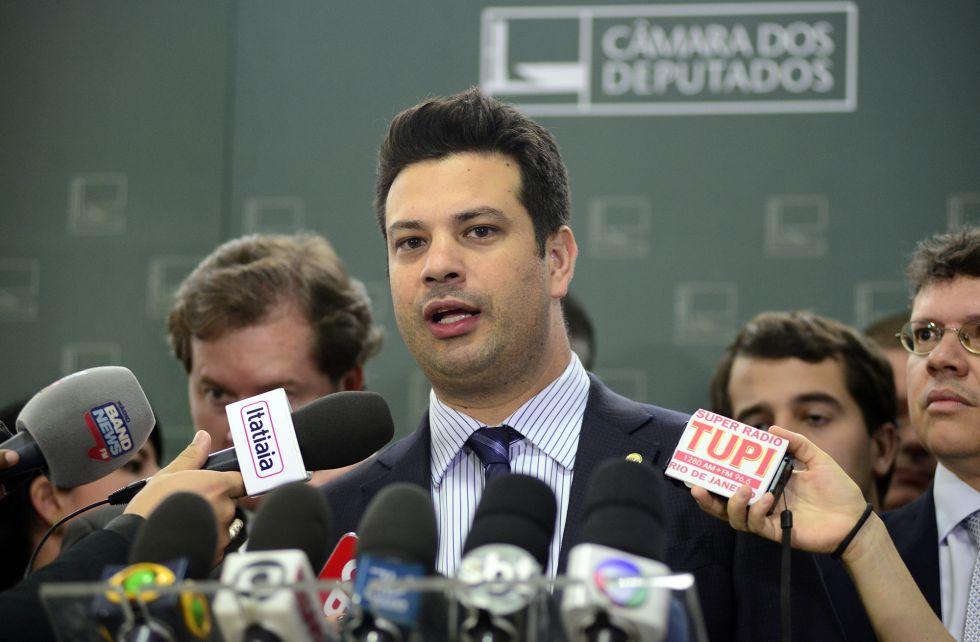 Picciani, o candidato do Governo, durante entrevista em dezembro.