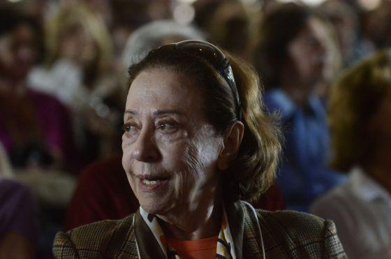 Fernanda na FLIP a que acompanhou a filha, a atriz e escritora Fernanda Torres, em 2014.