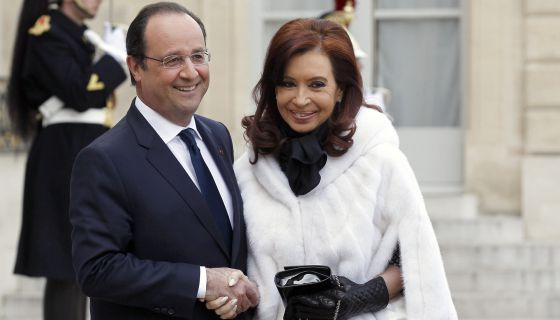 François Hollande y Cristina Fernández no Palacio del Elíseo