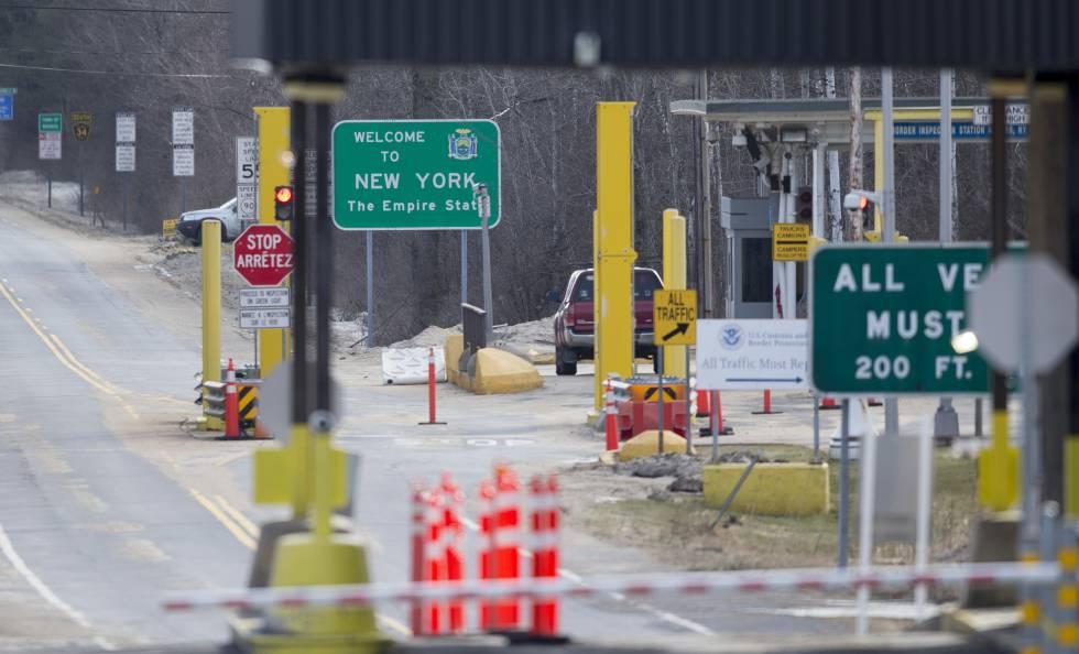 Posto fronteiriço entre Canadá e EUA.