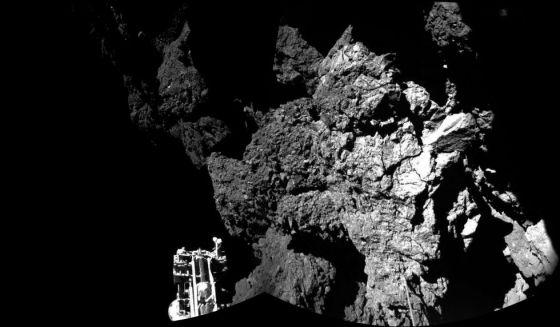 A sonda 'Philae', sobre o cometa 67P/Churyumov-Gerasimenko.
