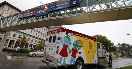 O Hospital Universitário Emory, em Atlanta, nos Estados Unidos, onde os norte-americanos infectados pelo ebola serão isolados.