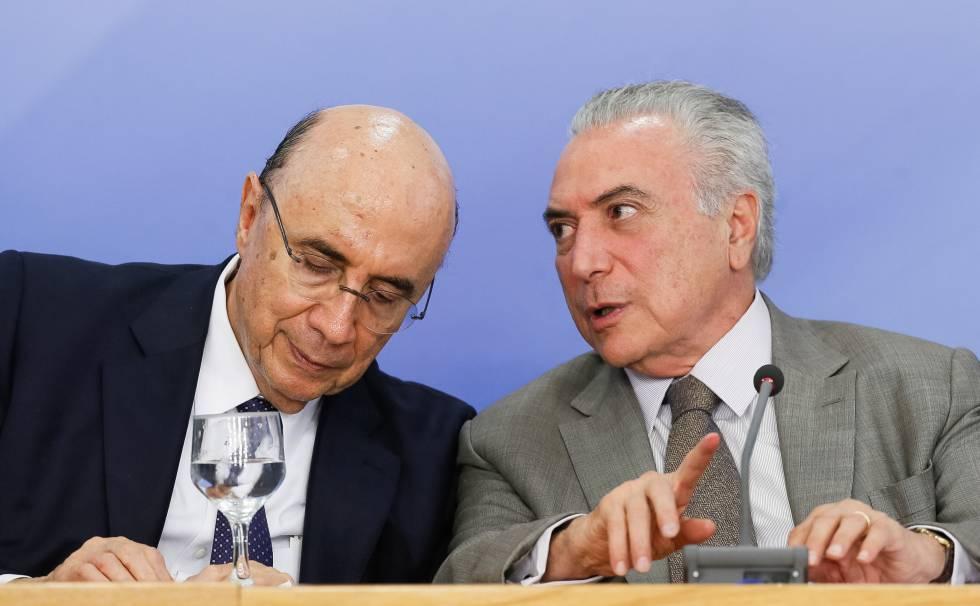 O ministro da Fazenda, Henrique Meirelles, e o presidente Michel Temer.