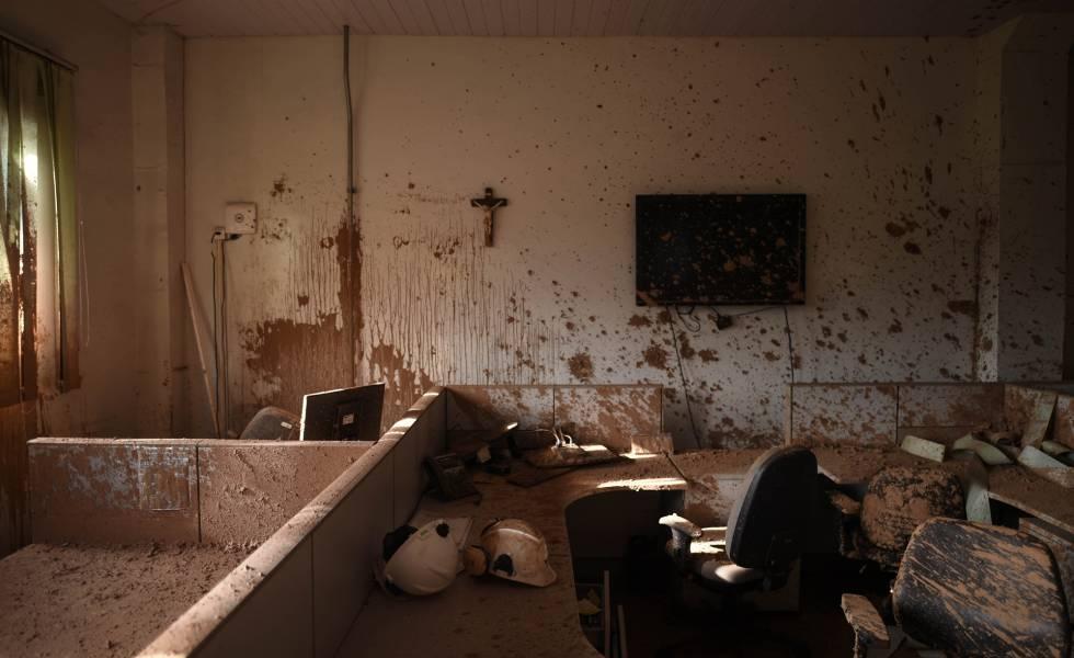 Interior de um escritório da Vale em Brumadinho, tirada 20 dias após o rompimento da barragem.