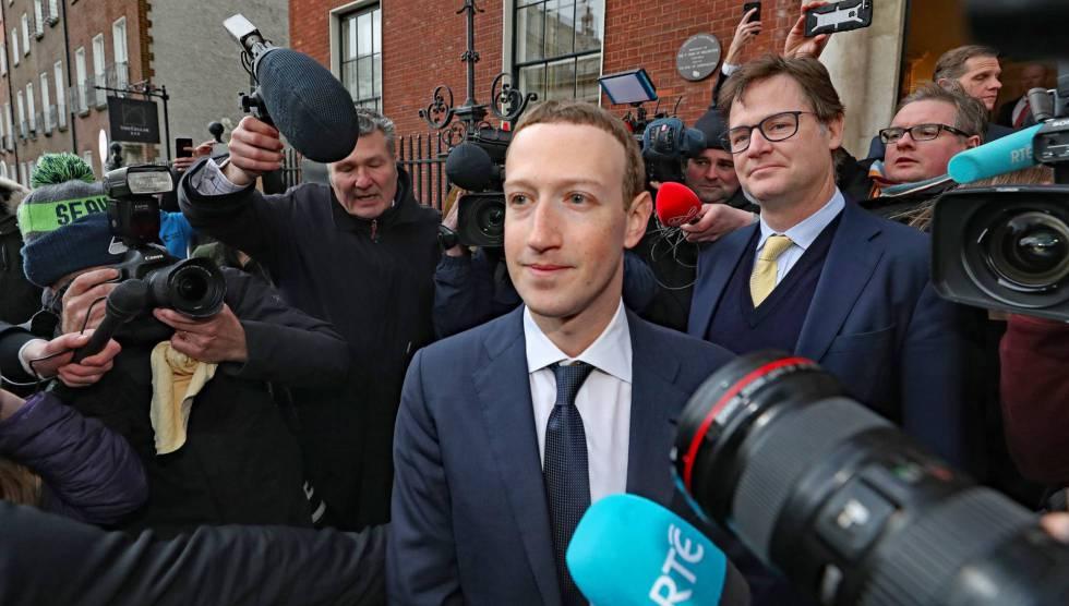 Mark Zuckerberg, durante uma entrevista recente em Dublin.