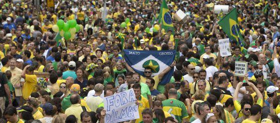 Protestos do dia 15 de março contra o Governo Dilma.